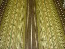 Waverly Lauren Hancock Decorator Fabric 6 yds olive green brown gold stripe