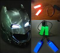 NEW DIY 1:1 LED Light Eyes For Batman Ironman Black Panther Helmet Mask Fitting