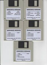 ENSONIQ MIRAGE (105) DISK LIBRARY! WORKS WITH EPS / EPS16+ 8 BIT GRITTY DRUMS!!