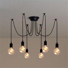 Lampada a sospensione per soffitto con 6 teste da soffito Vintage lampadario