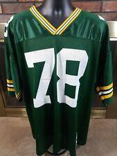 Ross Verba #78 Vintage Green Bay Packers NFL Football Jersey Starter 52 Mens XL
