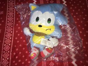 "8"" PROTOTYPE TOMY Sonic Boom SAD SONIC Plush 2017 LIGHT BLUE Sample RARE"