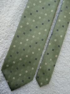 light green 3.75 INCH polyester tie NECKTIE from MARKS & SPENCER