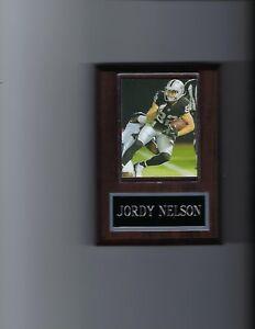 JORDY NELSON PLAQUE OAKLAND RAIDERS FOOTBALL NFL