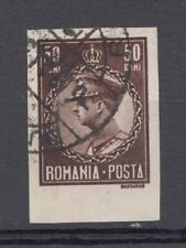 Romania STAMPS 1930 KING Carol POSTAL HISTORY USED IMPERFORATE