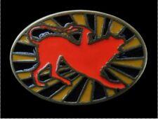 RED DOG ANIMAL RISING SUN COOL BELT BUCKLE BOUCLE DE CEINTURE