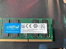 Crucial CT16G4S266M M16FE 2 X 16 GB DDR4-2400 Sodimm Memory (32gb Total)