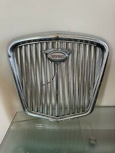 Vintage Wolseley Chrome Grill Classic Car Man Cave Work Shop Wall Art . As Found