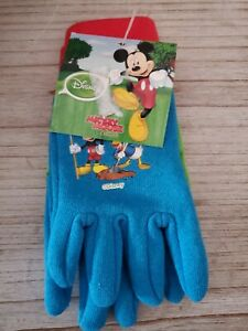 NWT DISNEY Junior Mickey Mouse and Friends Toddler Boys Jersey Gardening Gloves