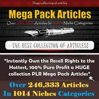 🔥 243,333 Premium Private Label Rights ARTICLES In 1014 Niches + 12GB Bonuses