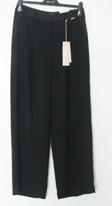 M&S Per Una Roma Sizes 12R 14S  Black Wide Leg Evening Trousers Bnwt £39.50