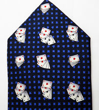 CHRISTMAS GIFT FIRENZE Mens Tie Silk Designer Made in Italy Playing Cards New