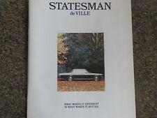 HOLDEN 1973 HQ STATESMAN SALES BROCHURE PLUS BONUS COLOUR CHART 100% GUARANTEE.