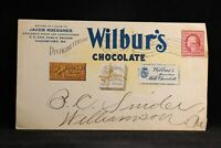 Maryland: Hagerstown 1909 Wilbur's Chocolate Illustrated Advertising Cover