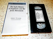The Early History of Sepphoris and the Jesus Movement James Strange VHS