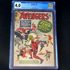 Avengers #6 (Marvel 1964) 💥 CGC 4.0 💥 1st Baron Zemo + Masters of Evil! Comic