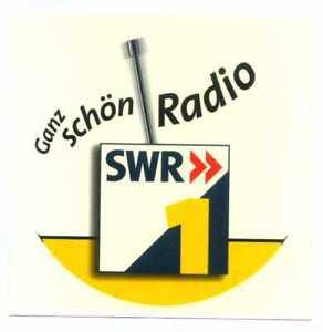 Radio TV Media Aufkleber Sticker Südwest Rundfunk SWR SDR Ganz schön Radio