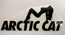 ARCTIC CAT artic STICKER artic lady ski DECAL trailer SNOWMOBILE sled ATV BLACK
