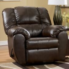 BIG Brown Espresso Leather Rocker Recliner Armchairs Arm Chair Recliners Chairs
