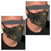 2 Gesichtsmasken für Erwachsene Mundschutz Nasenschutz Camouflage Design