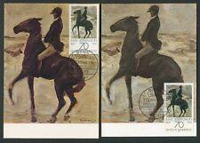 Federal Mk 1978 pinturas querido hombre jinete caballo 2 tarjetas maximum maxi card mc h1061