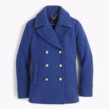 J Crew Majesty Pea Coat Stadium Cloth Nello Gori Wool Jacket 0P Heather twilight