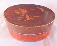 petite boite ovale Napoléon III papier maché laquée box