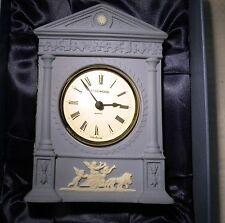 WEDGWOOD JASPER  HELICON MANTLE CLOCK WEDGWOOD INTERNATIOAL SOCIETY BOXED