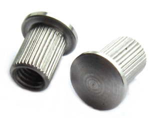 M4 M5 Stainless Steel A4 316 Interscrews Smooth Dome Head Knurled Shank