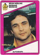 1988 SCANLENS RUGBY LEAGUE #116 of 144: BRIAN NIEBLING - BRISBANE BRONCOS/TEST D