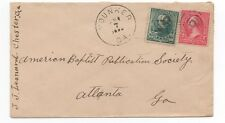 1890s US Cover with 10 cent Green from Younker GA w/ Atlanta Straight Line Rec.