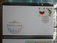UK 2004 ENTENTE CORDIALE SET 2 STAMPS FDC FIRST DAY COVER