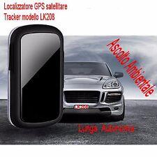 LOCALIZZATORE SATELLITARE TRACKER GPS GSM SPIA LK208 SPY INSEGUIRE PEDINARE