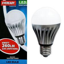 Eveready 6W ES E27 Edison Screw GLOBO LED GLS RISPARMIO ENERGETICO LAMPADINA 25W