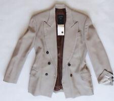 Jean Paul GAULTIER blazer coat jacket 40 Femme beige double breasted JPG fitted
