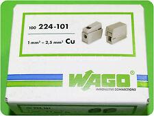 100 WAGO Leuchtenklemme  1,0 bis 2,5mm² 224-101