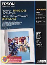 Epson Pap Photo Premium Semi Glacé A4 (20f./251g) Papier photos