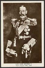 British Royalty. H.M King George V. who Died Jan 20th, 1936 . RP Postcard
