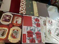 Kanban Navidad monocromo//decadencia Cardmaking Kit 6 A4 Tarjeta Troquelada Toppers//3