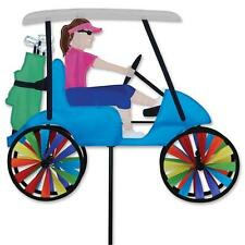 """Lady in a Golf Cart 17"""" Staked Wind Spinner Pole & Ground Mount..19.... PR 26881"""