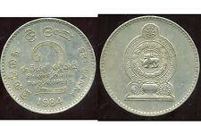 SRI LANKA  2 rupees  1984   ( bis )