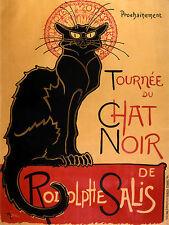 6 x 8 Art Deco Black Cat Vintage Mural Backsplash Bath Ceramic Tile #2291