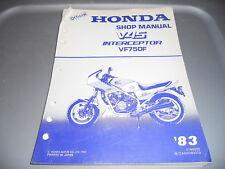 Honda Factory Service Manual 1983 VF750F V45 Interceptor