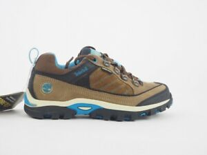 Junior Boys Timberland Hyper Trail GTX 4094R Brown Suede Lace Up Trainers
