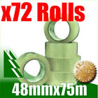 72 x Rolls Clear Packing Packaging Tape 48mm x 75m