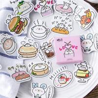 45Pcs/Set Cute Kawaii Bear PVC Sticker Scrapbooking DIY Book Diary Stickers H&P