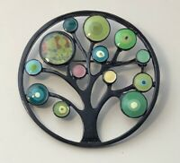 Unique Tree Of Life Brooch Pin in enamel on metal