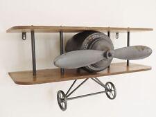 Retro Industrial Style Vintage Aeroplane Plane Shelf