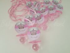 Princess Pacifier Necklace Baby Shower Game Favors 12 PINK Its a Girl Decoration