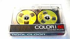 One REEL CLEER, reel to reel blank audio cassette tape, brand new, yellow color